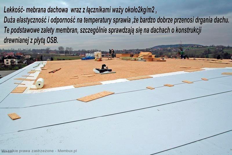 dach płaski z płyty osb