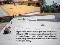 dach kryty zkłady tłuszczowe membraną pcv