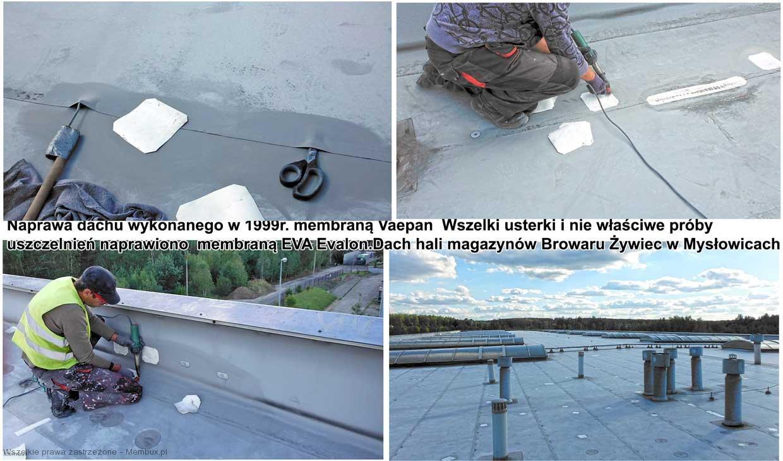 naprawa dachu pokrytego membraną Vaepan